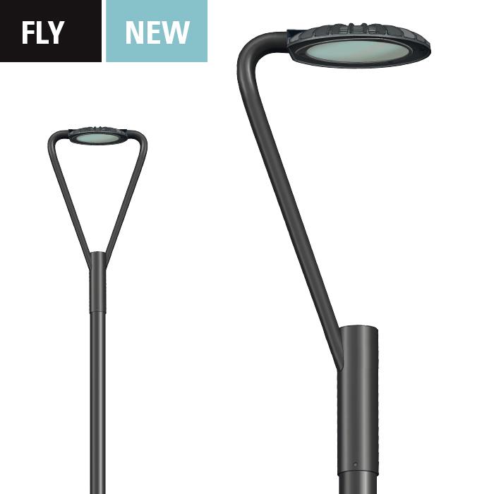 Nuova serie di apparecchi led di arredo urbano per for Illuminazione arredo urbano
